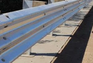 Thrie or Three Beam Guard Rail Barriers