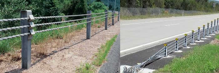 Galvanized Wire Cable Guardrail Barriers with High Tension Strength