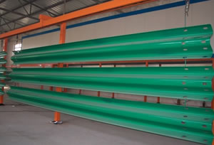 Green Color Thrie or Three Beam Guardrails