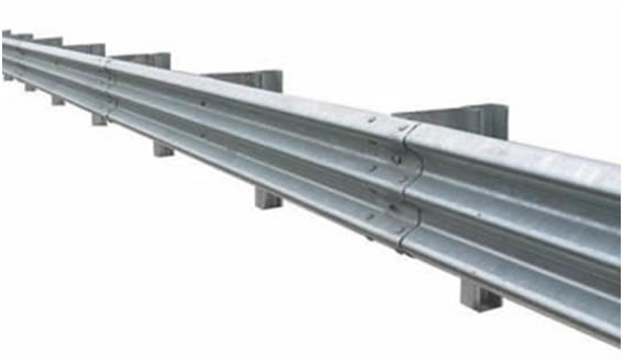 Hot Dipped Zinc Plated Bright Guardrails with Three Wave Beams